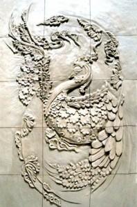 نقش برجسته دیواری تابلو سفال مینیاتوری