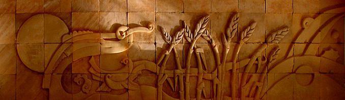 نقش برجسته دیواری تابلو سفال دکوراتیو