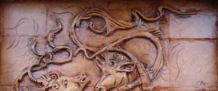تابلو-دیواری-سنتی-برجسته-سفالی