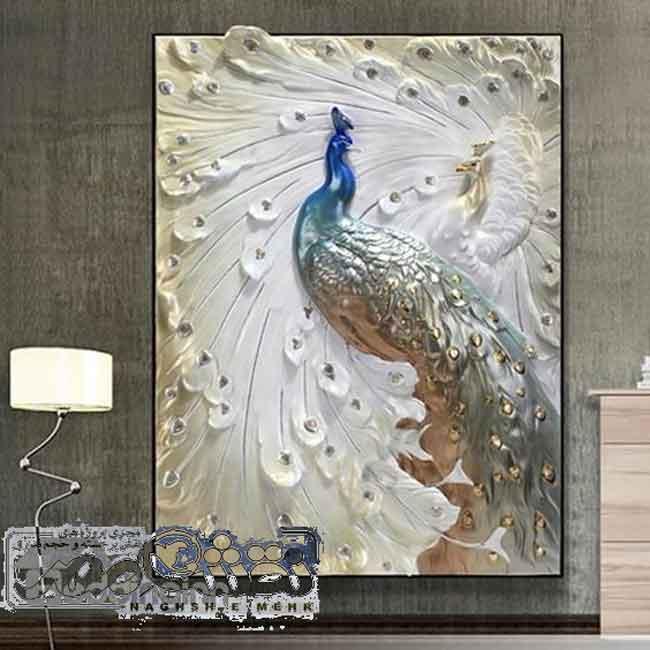 تابلو-طرح-طاووس-برجسته