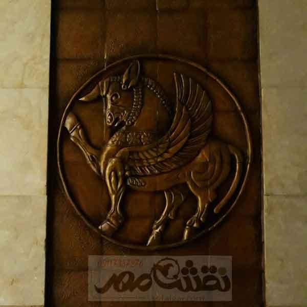 تابلو-اسب-برجسته-سفالی